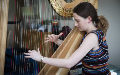 Top harpist swaps Albert Hall  for Caernarfon care home